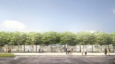 Images have emerged revealing plans for a visitor centre, including a rooftop observation deck, at the Foster + Partners-designed Apple Campus 2 Apple Campus 2, Glass Structure, Foster Partners, Apple New, The Visitors, Rooftop, Terrace, Dolores Park, Country Roads