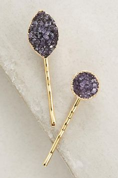 How stunning are the Ellie Druzy Hair Pins from Anthropologie? Perfect for…