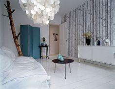 trendy bedroom wood wallpaper cole and son Birch Tree Wallpaper Cole And Son, Cole And Son Wallpaper, White Apartment, Wood Wallpaper, Wallpaper Designs, Bedroom Wallpaper, Wood Bedroom, Mocca, Apartment Interior Design