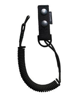 Snur de siguranta (lanyard) pentru pistol. Se poate intinde pana la 100cm. Produs in Romania.
