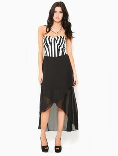 Vertical #Stripe High Low #Dress Vertical Stripes, Corset, Night Out, Cool Things To Buy, High Low, Style Me, Best Deals, How To Wear, Diaries