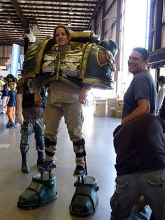 Jen the Space Marine Cosplay Diy, Halloween Cosplay, Halloween Outfits, Best Cosplay, Halloween Costumes For Kids, Cosplay Costumes, Warhammer 40k Memes, Warhammer 40000, Warhammer Art