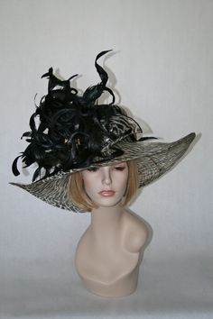Black and Tan sinamay kentucky derby hat Click on photo to purchase. $299 www.stores.ebay.com/hatmillinery