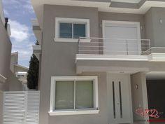 Guarda Corpo de Vidro - Guarda Corpo de Aluminio - Corrimão em Inox Casa Spa, Casa Duplex, Double Story House, My House Plans, New Home Designs, House Painting, Home Crafts, Exterior Design, House 2
