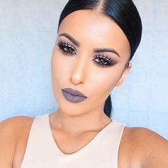 "#ShareIG Shades of gray @colouredraine ""Soul"" on the lips (code:amrezy for 10% off)  Pinterest: @blvckswede"