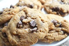 brown butter sea salt chocolate chip cookies - Holy Cow!!  These were AWESOME!