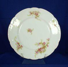 Societe Alluaud Depose Limoges France ALU2 White Luncheon / Dinner Plate bfe1595 #SocieteAlluaudDepose