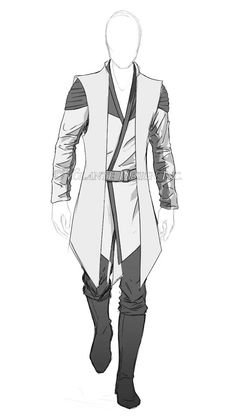 Griffin Traveling Clothes (Sleeves slightly shorter, plus quiver and side messenger bag) Costume Jedi, Jedi Cosplay, Art Costume, Fantasy Character Design, Character Design Inspiration, Character Art, Star Wars Concept Art, Star Wars Art, Star Wars Outfits