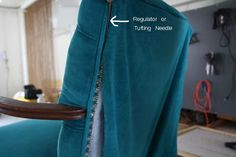 How to Upholster a Chair: Attaching the Outside Back