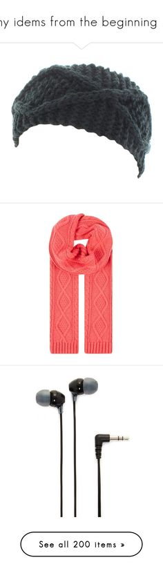 """""""my idems from the beginning 2"""" by jadebailey-bailey ❤ liked on Polyvore featuring accessories, hair accessories, hats, knit headband, knit headwrap, headband hair accessories, head wrap hair accessories, head wrap headband, scarves and red"""