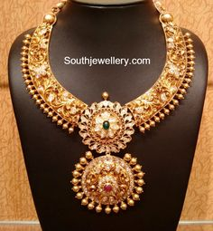Antique Necklace latest jewelry designs - Page 15 of 330 - Indian Jewellery Designs Ruby Necklace Designs, Gold Jewelry For Sale, Gold Jewellery Design, Designer Jewellery, Indian Jewelry, Wedding Jewelry, Beautiful, Diamond Necklaces, Gold Necklaces