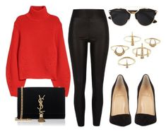 """""""#13790"""" by vany-alvarado ❤ liked on Polyvore featuring River Island, Yves Saint Laurent, Christian Dior, Christian Louboutin and Luv Aj"""