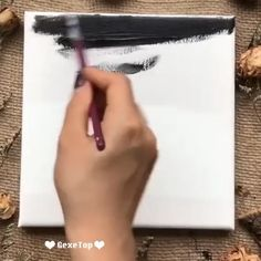 This is amazing diy art idea for beginners. Easy acrylic painting tutorial of moon. Credit: This is amazing diy art idea for beginners. Easy acrylic painting tutorial of moon. Simple Canvas Paintings, Small Canvas Art, Easy Canvas Painting, Diy Canvas Art, Painted Canvas, Painted Rocks, Canvas Painting Tutorials, Painting Videos, Painting Lessons