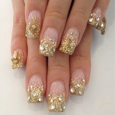 love the gold glitter
