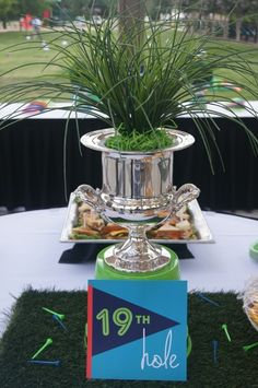 Golf Birthday Party Ideas! See more party ideas at CatchMyParty.com!