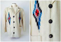 Vintage Chimayo Coat / Men's Chimayo Jacket /  by fourBvintage