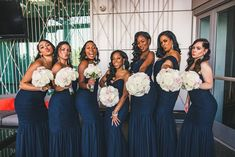 Going for glam in Navy tulle! Amsale Bridesmaid, Bridesmaid Dresses, Wedding Dresses, Blue Wedding, Wedding Colors, Bridal Style, Photo S, Real Weddings, Tulle