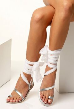 Wedding sandals with silk laces Bridal sandals Silver sandals Beach Wedding shoes Boho sandals for bride Custom Made Eftychia Shoes Flats Sandals, Flat Sandals, Gladiator Sandals, Leather Sandals, Greek Sandals, Beach Wedding Shoes, Wedding Flats, Bridal Sandals, Silver Sandals