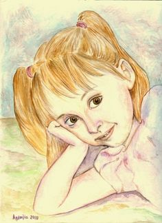 Portrait, watercolor, 30x22cm