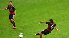 Sami Khedira of Germany scores his team's fifth goal