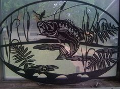 plasma cut bass art | Bass Jumping Oval Insert