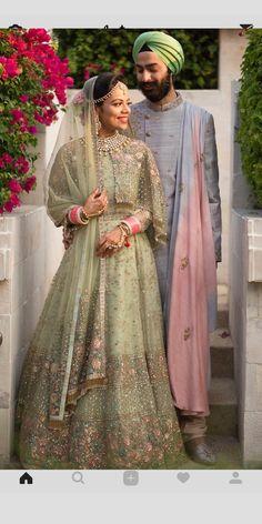 Sikh Wedding Dress, Wedding Lehnga, Wedding Dresses For Girls, Desi Wedding, Wedding Wear, Designer Bridal Lehenga, Bridal Lehenga Choli, Pakistani Bridal, Indian Bridal