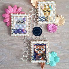 Miyuki Beads, Hama Beads, Peyote Patterns, Beading Patterns, Beaded Banners, Beading Projects, Peyote Stitch, Brick Stitch, Stitch Design