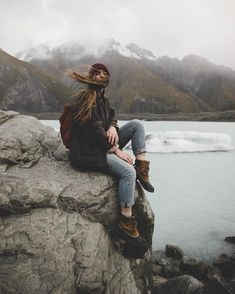 exploring | hiking | travel | cold | boots and beanies | denim | lakes | outdoors | snowy caps