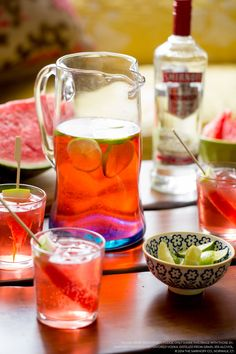 WOW your July 4th guests with a wonderful Watermelon Splash Punch recipe. 15 oz. Smirnoff® Watermelon Flavored Vodka, 3.75 cups lemon-lime soda, 1 cup cranberry juice, watermelon slices. Stir ingredients in punch bowl. Pour over ice  add a slice of watermelon.10 servings