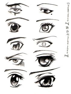 Day 31 Here I wanted to practices facial-expressions that are done with the eyes. I used the book Manga Moods for support and guideline. Some turned out good and some are very, very bad. Lot of wor...