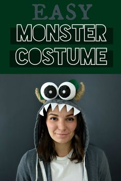 This Easy DIY Monster Halloween Costume is such a simple and fun costume for bot… This Easy DIY Monster Halloween Costume is such a simple and fun costume for both kids and adults alike! Funny Kid Costumes, Easy Diy Costumes, Halloween Costumes For Teens, Couple Halloween, Cool Costumes, Costume Halloween, Halloween Carnival, Halloween Celebration, Adult Halloween