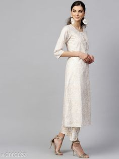 Dupatta Sets Women Cotton A-line Solid Long Kurti With Palazzos Fabric:  Kurta - Cotton   Palazzo - Cotton  Sleeves:  Sleeves Are Included Size: XS - 34 in S - 36 in M - 38 in L - 40 in XL - 42 in XXL - 44 in Palazzo - XS - 26 in S- 28 in M- 30 in L- 32 in XL- 34 in XXL- 36 in  Length: Kurta - Up to 46 in   Palazzo - up to 48 in  Type: Stitched Description: It Has 1 Piece Of Kurta 1 Piece Of Palazzo  Work : Kurta - Solid Palazzo - Solid Country of Origin: India Sizes Available: XS, S, M, L, XL, XXL   Catalog Rating: ★4.3 (1518)  Catalog Name: Women Cotton A-line Solid Long Kurti With Palazzos CatalogID_264607 C74-SC1853 Code: 2401-2002937-0423