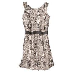 Mossimo® Women's Sleeveless Dress w/ Faux Leather Trim -Snake Print