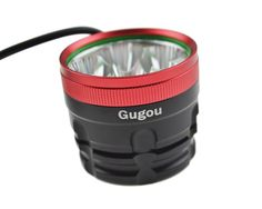 """Amazon.com : Gugou Rechargeable Mountain Bike Headlight - With """"NEW"""" 6400mAh Battery - POWERFUL 1200 Lumens - FREE TAILLIGHT Included - LIFETIME WARRANTY : Sports & Outdoors Bicycle Headlight, Bike Light, Tail Light, Mountain Biking, Drink Bottles, Outdoors, Led, Amazon, Sports"""