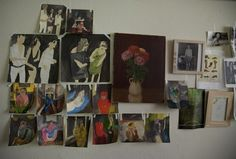 Sketches from a month of Thursday nights out in the studio of Leanne Shapton.