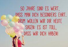 Funfzig Wirst Du Heute 50 Geburtstag Bastelideen Pinterest