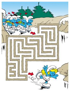 Mazes For Kids, Activities For Kids, Crafts For Kids, Spot The Difference Kids, Coloring Books, Coloring Pages, Fall Drawings, Smurfette, Wine Parties