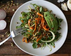 French Lentil, Kamut and Avocado Salad with Basil Dressing , a recipe on Food52
