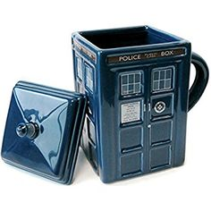 Doctor Who Tardis Mug with Lid, DR87: Doctor Who: Amazon.co.uk: Kitchen & Home