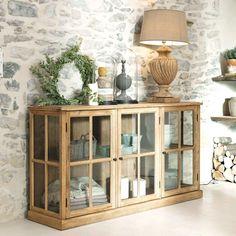 Solid oak glazed sideboard W Sofa Table Decor, Dining Room Furniture, Furniture Decor, White Sideboard, Oak Sideboard, Large Sideboard, Diy Home Decor, Room Decor, Dining Room Buffet