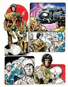 Strontium Dog original artwork (1978) drawn and signed by Carlos Ezquerra. From Starlord No 1 May 3 1978. Probably the second most popular 2000 AD character after Judge Dredd, Johnny Alpha Strontium Dog appeared for the first time in Starlord No 1.  Gouache and Indian ink on card. 18 x 14 ins £250-300