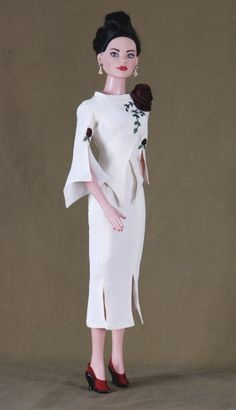 The Rose Suit, Robert Tonner American Model Doll, Handmade Christmas Gift, One Of A Kind Silk Designer Suit