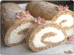 Orechovo tvarohová roláda | recept | RadVarim.sk Food And Drink, Rolls, Cooking Recipes, Sweets, Bread, Baking, Decorations, Chocolates, Cakes