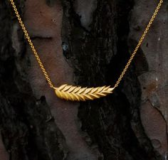 Wheat Necklace, Harvest Pendant, Sterling Silver Jewelry, Gold Filled, Handmade jewelry, Necklace Gift