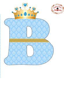EUGENIA - KATIA ARTES - BLOG DE LETRAS PERSONALIZADAS E ALGUMAS COISINHAS: Alfabeto Realeza Azul