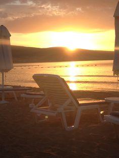 Sunrise in sunny beach Bulgaria
