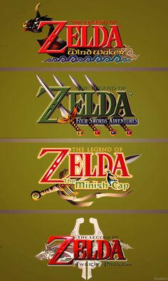 The Legend of Zelda  logos (1986-2013)  #Zelda #Nintendo