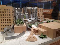 MIT Stata Center Model. Frank Gehry LACMA exhibit.
