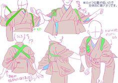Kimono poses 1/3, by Mizunoe - Tanuki+Kimono