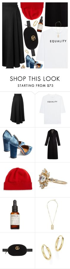"""Untitled #7020"" by amberelb ❤ liked on Polyvore featuring Apiece Apart, Soufiane Ahaddach, Aquazzura, Joseph, Portolano, Le Labo, Versace, Gucci and Bloomingdale's"